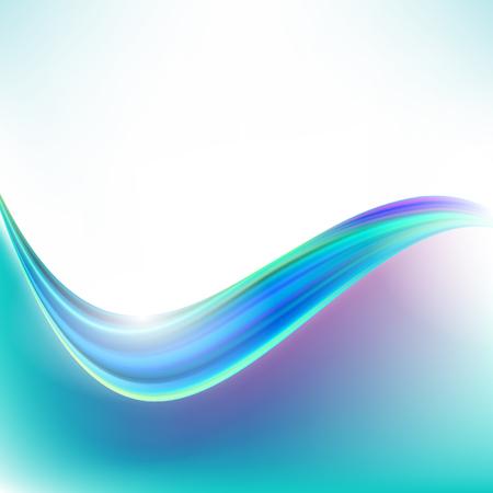 Blue curve abstract background vector illustration Ilustración de vector