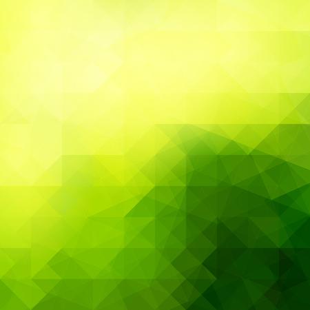 Abstrakter grüner Lichtschablonenhintergrund. Dreiecke Mosaik