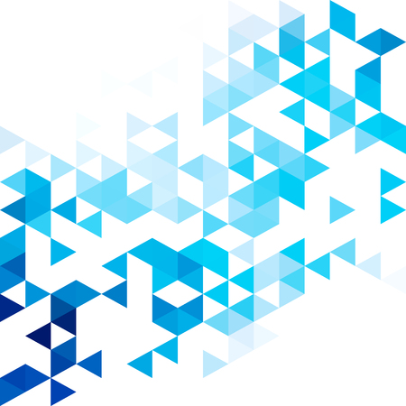 Blauer Rastermosaikhintergrund. Kreative Designvorlagen