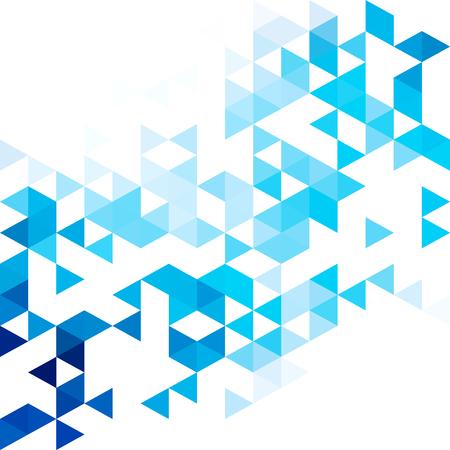 Blue grid mosaic background. Creative design templates