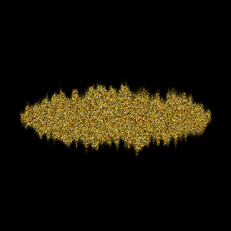 Gold texture paint stain abstract illustration. Shining brush stroke for you design project.