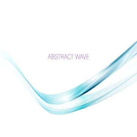 Abstract vector achtergrond, transparante golvende lijnen voor brochure, website, flyer ontwerpen. Blauwe rookgolf.