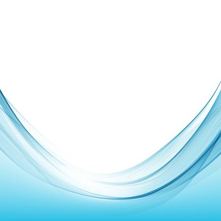 Abstrakte Hintergrundvektorillustration der blauen Wellenkurve