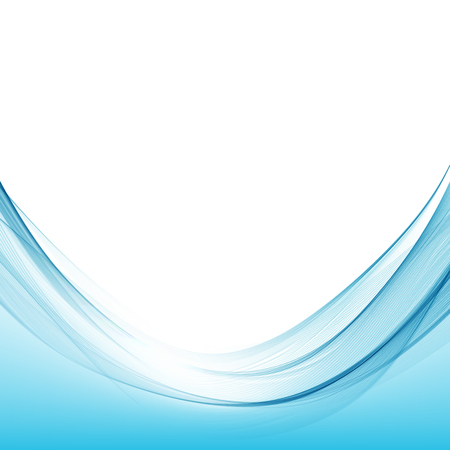 Blue wave curve abstract background vector illustration