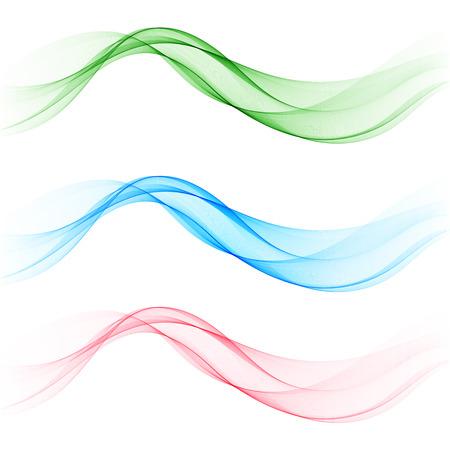 Establecer ondas de colores. Plantilla de folleto, elemento de diseño