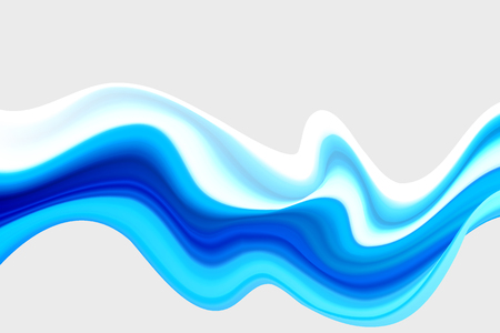 Blue wave acrylic paint Wavy paint drips Background waves