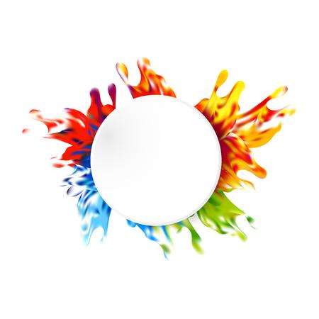 Abstract paint color design background. illustration vector design Vetores