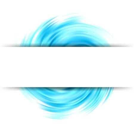 Sfondo colorato vortice astratto Cerchio colorato a forma di onda Banner bianco Vettoriali