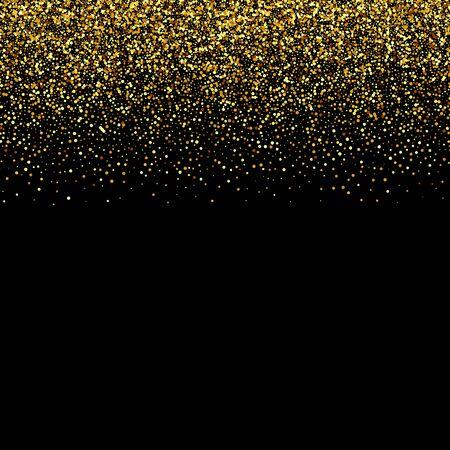 Vector de fondo negro de lujo con luces de Bengala de oro Brillos de oro Ilustración de vector