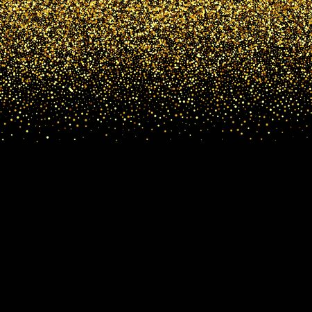 Vector luxury black background with gold sparklers Gold glitters Vetores
