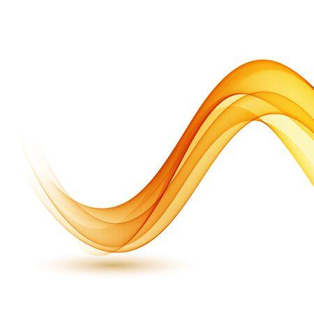 Fondo abstracto de ondas ahumadas. Diseño de folleto de plantilla Ilustración de vector