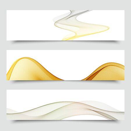 Set of wave elements banner background. Vector eps10