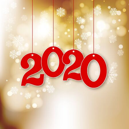 Abstract vector New Year background with 2020 Numbers Vector background