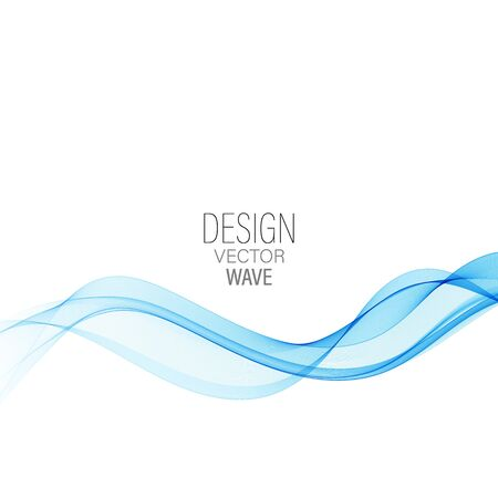 Blue abstract wave.Abstract vector background wave Vektorové ilustrace