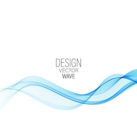 Onda abstracta azul Onda de fondo de vector abstracto Ilustración de vector