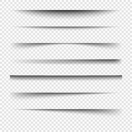 Realistic shadows.Vector set of transparent realistic shadow.
