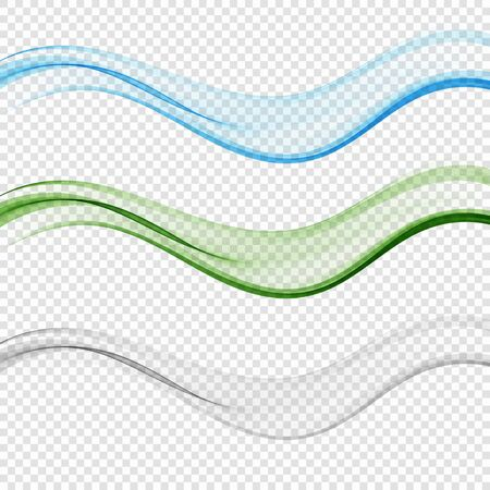 Set of blend abstract wave Blue wave Green wave Gray wave Stok Fotoğraf - 137830084