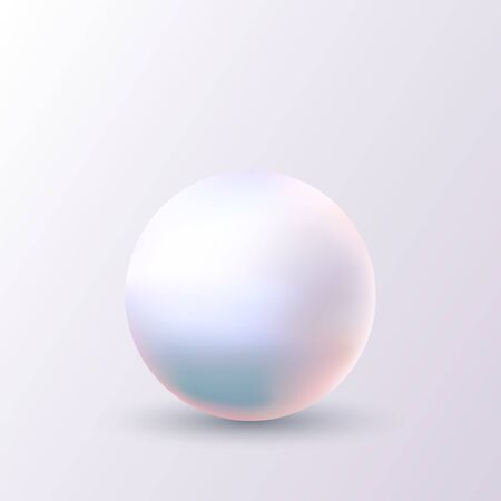 Pearl isolated on white background vector illustration Illustration