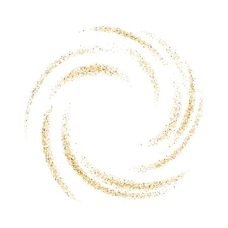 Abstract  with gold luminous swirling backdrop.