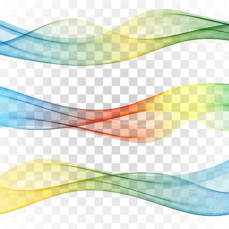 Ensemble de vagues colorées de bannières abstraites