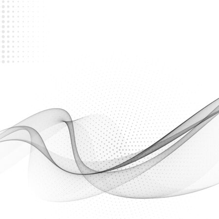 Abstract wave modern halftone background futuristic cool layout.