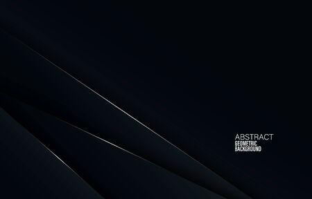 Black abstract corporate background. Digital abstract vector design. Dark illustration