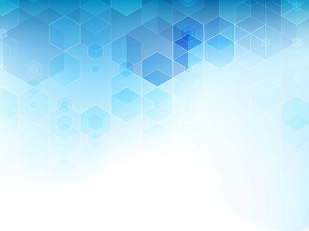 Fondo blu astratto di vettore dei cubi.