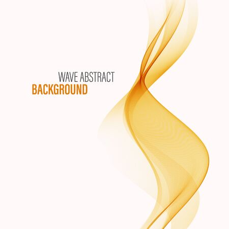 Wavy orange background Wave flow Abstract background
