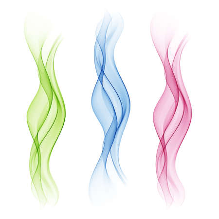 A set of transparent waves. Abstract colour background waves.
