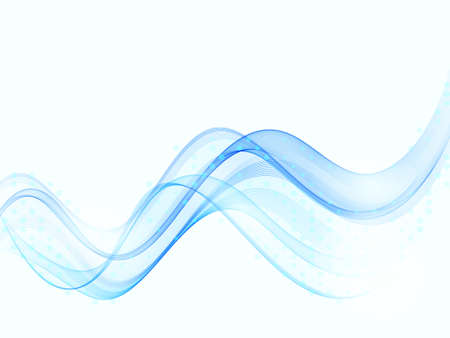 Blue modern abstract lines swoosh wave Smooth wave border background Wave blue flow Vettoriali
