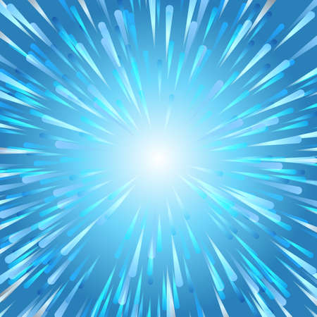 Abstract vector fireworks blue Christmas background Illustration