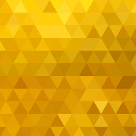 Gold vector pattern Abstract geometric background Triangle. mosaic