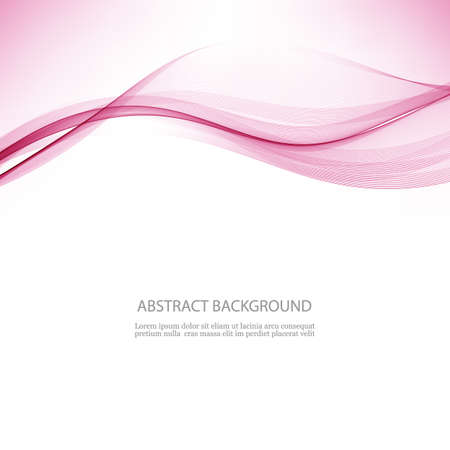 Vector illustration Abstract colorful transparent wave Wave flow