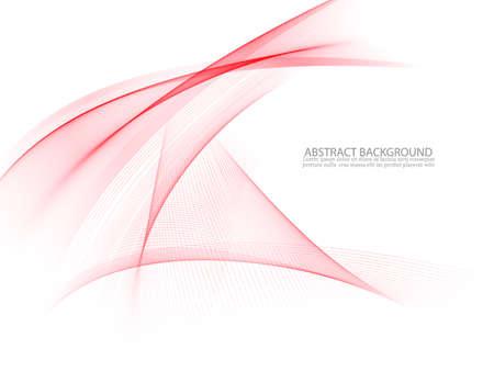 Abstract vector background, red waved lines for brochure, website, flyer design Ilustração