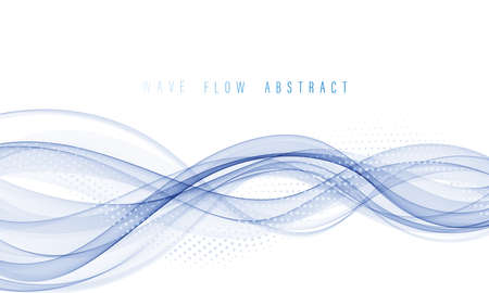 Flow wave color spectrum. Abstract wave vector background.