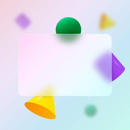 C.redit card design. Multicolored geometric background.Glassmorphism design.