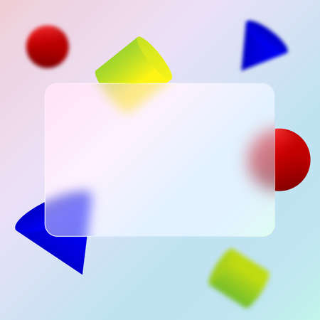 Credit card design. Multicolored geometric background.Glassmorphism design.