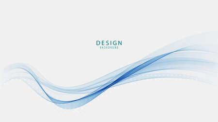 Abstract blue wave vector background blue wave flow 矢量图像