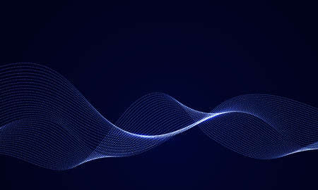 Abstract vector design element ,flowing particle waves 矢量图像