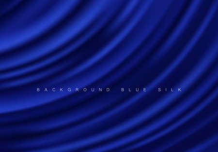 Abstract background luxury blue cloth or liquid wave Texture silk Iuxurious background or elegant wallpaper Vektorgrafik