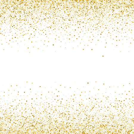 Gold glitter texture on white background Golden dots background Vector Illustration