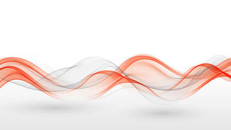 Abstract background, gray and red wavy lines for brochure, website, flyer design.