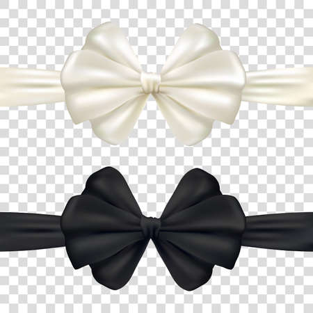 Decorative pink and black bow with horizontal ribbon.