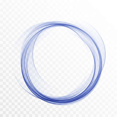 Abstract swirl energy circle Blue element design wave Vector