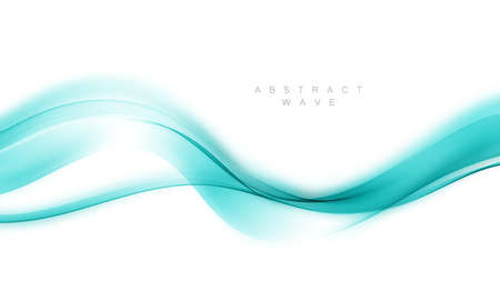 Blue abstract wave. Abstract vector background wave