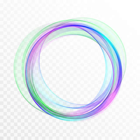 Abstract swirl energy circle Blue and green element design wave Vector