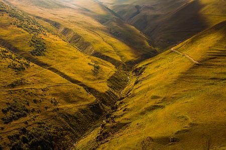 swanetia: Caucasus green hills and mountains, Georgia