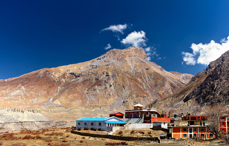 reclusion: Buddhist monastery in the mountains. Himalaya, Nepal