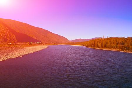 katun: view of the river Katun, Altai, Russia Stock Photo