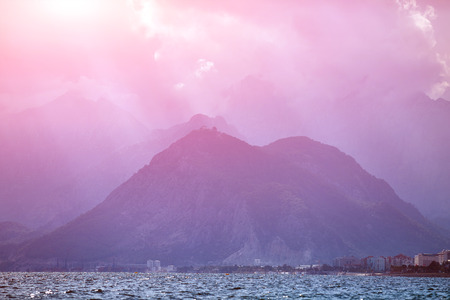 beauty of the nature: nature landscape of Taurus rock mountains over Mediterranean Sea